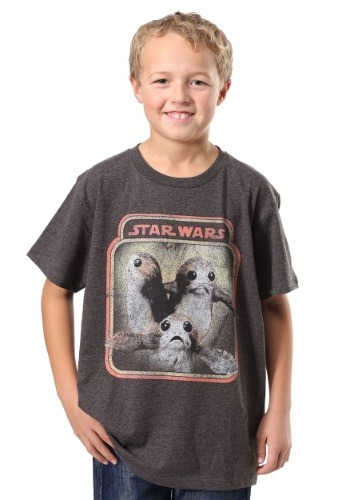 Star Wars The Last Jedi Porgs Trio Boys T-Shirt