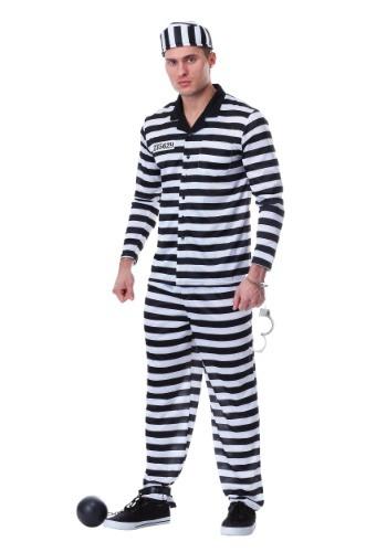 Men's Deluxe Button Down Jailbird Costume