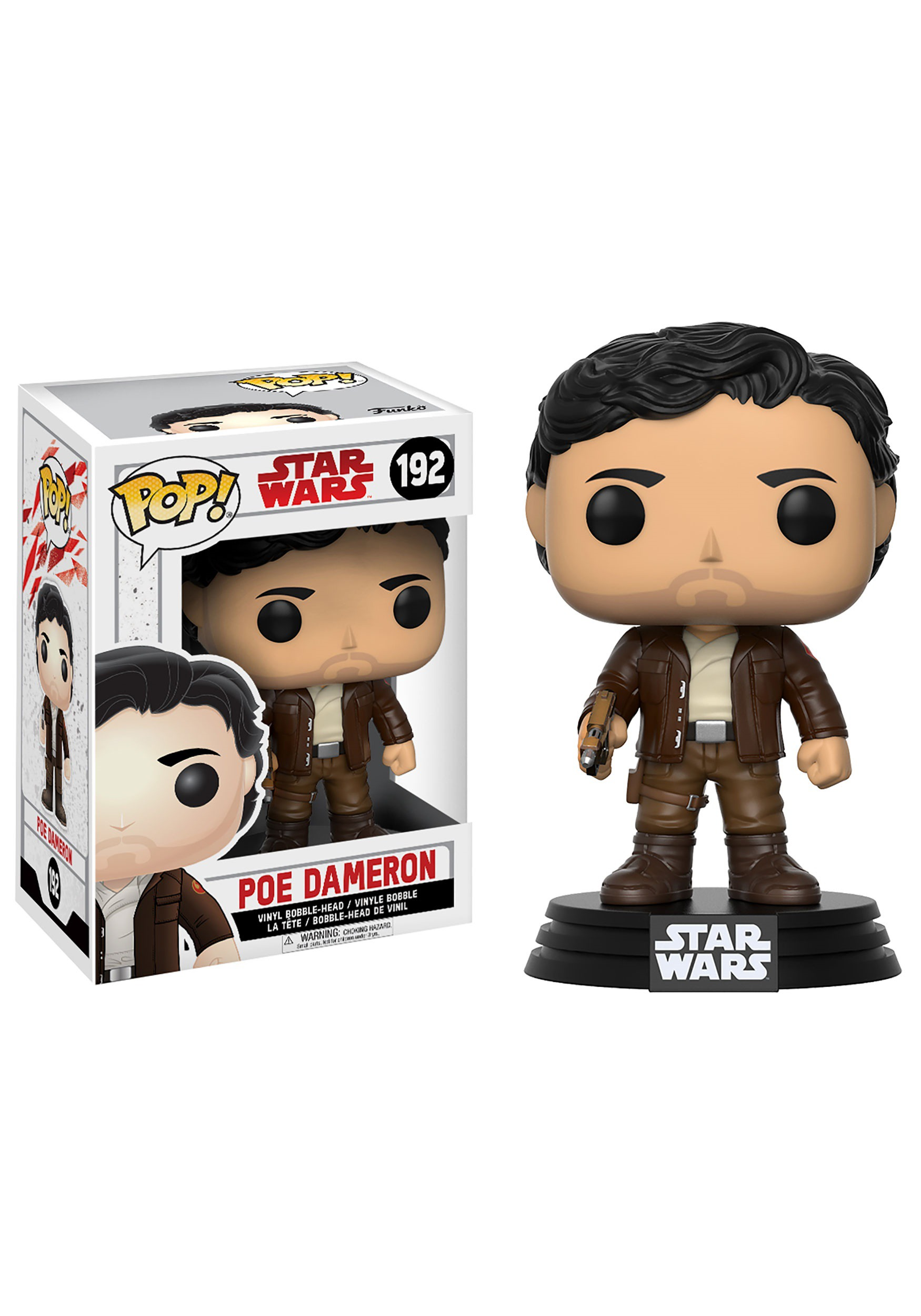 Star Wars The Last Jedi Funko POP Poe Dameron Bobblehead Figure FN14747