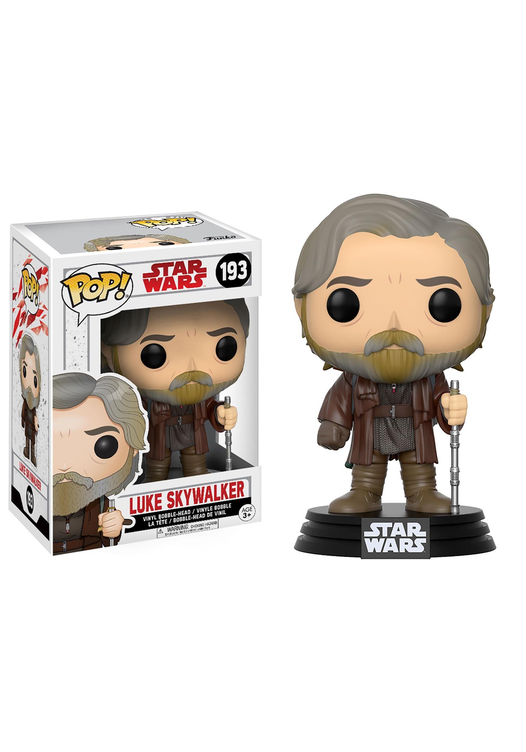 Star Wars The Last Jedi Funko Pop Luke Skywalker Bobblehead Figure FN14745