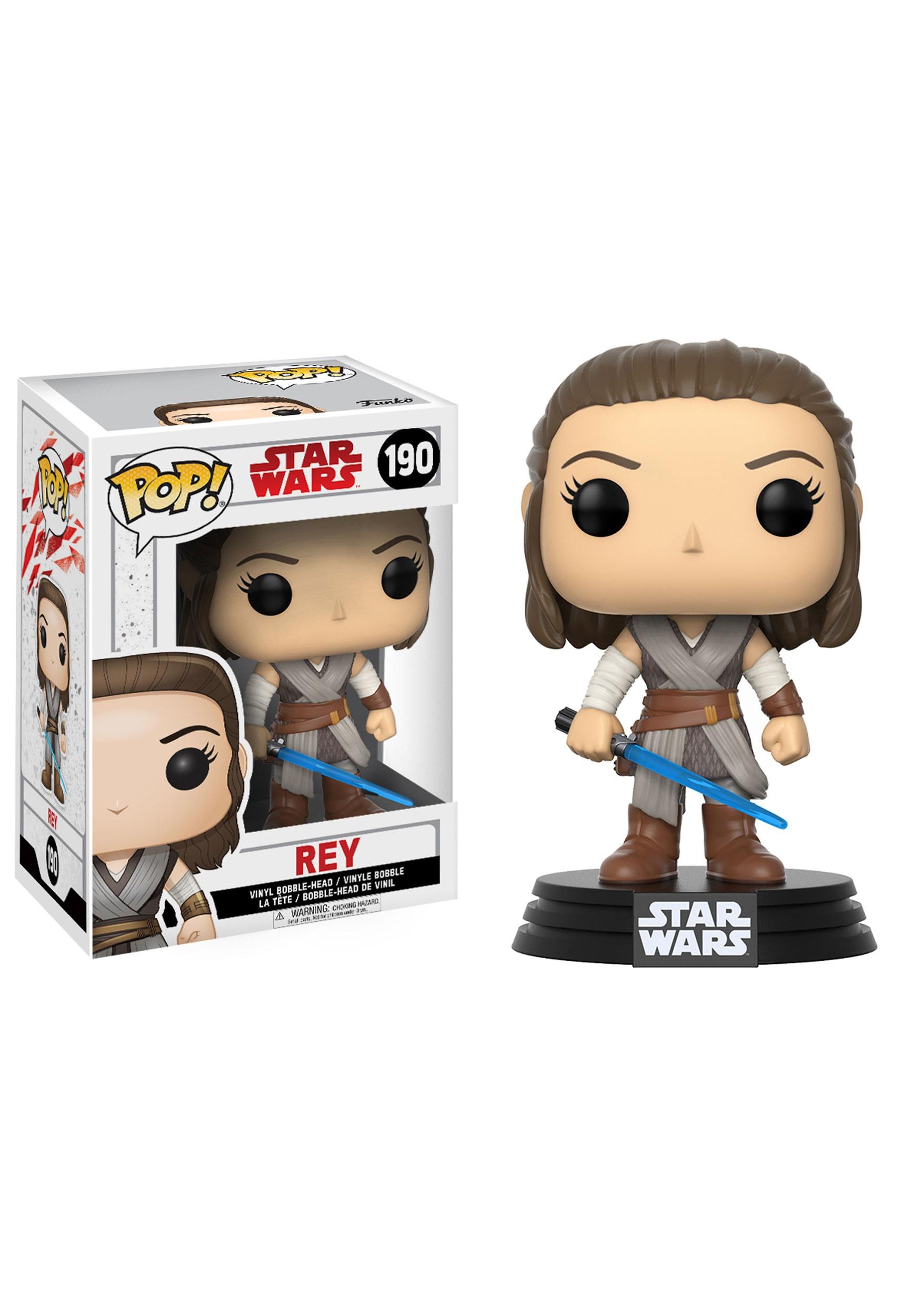 Star Wars The Last Jedi Funko POP Rey Bobblehead Figure FN14743