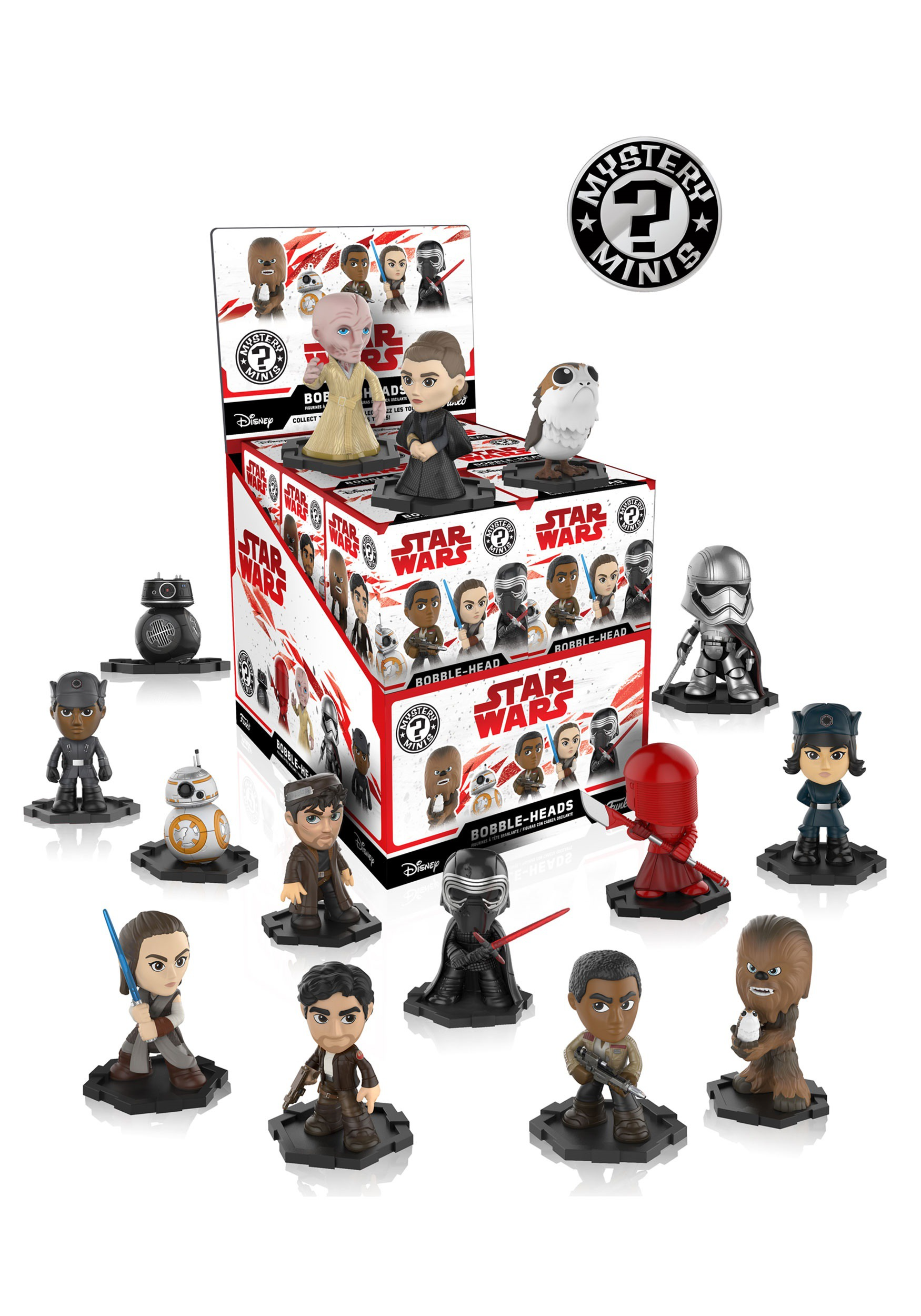 Star Wars The Last Jedi Mystery Minis Blind Box Bobblehead Figure