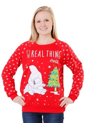 Coca Cola Polar Bear Juniors Light Up Sweatshirt update main