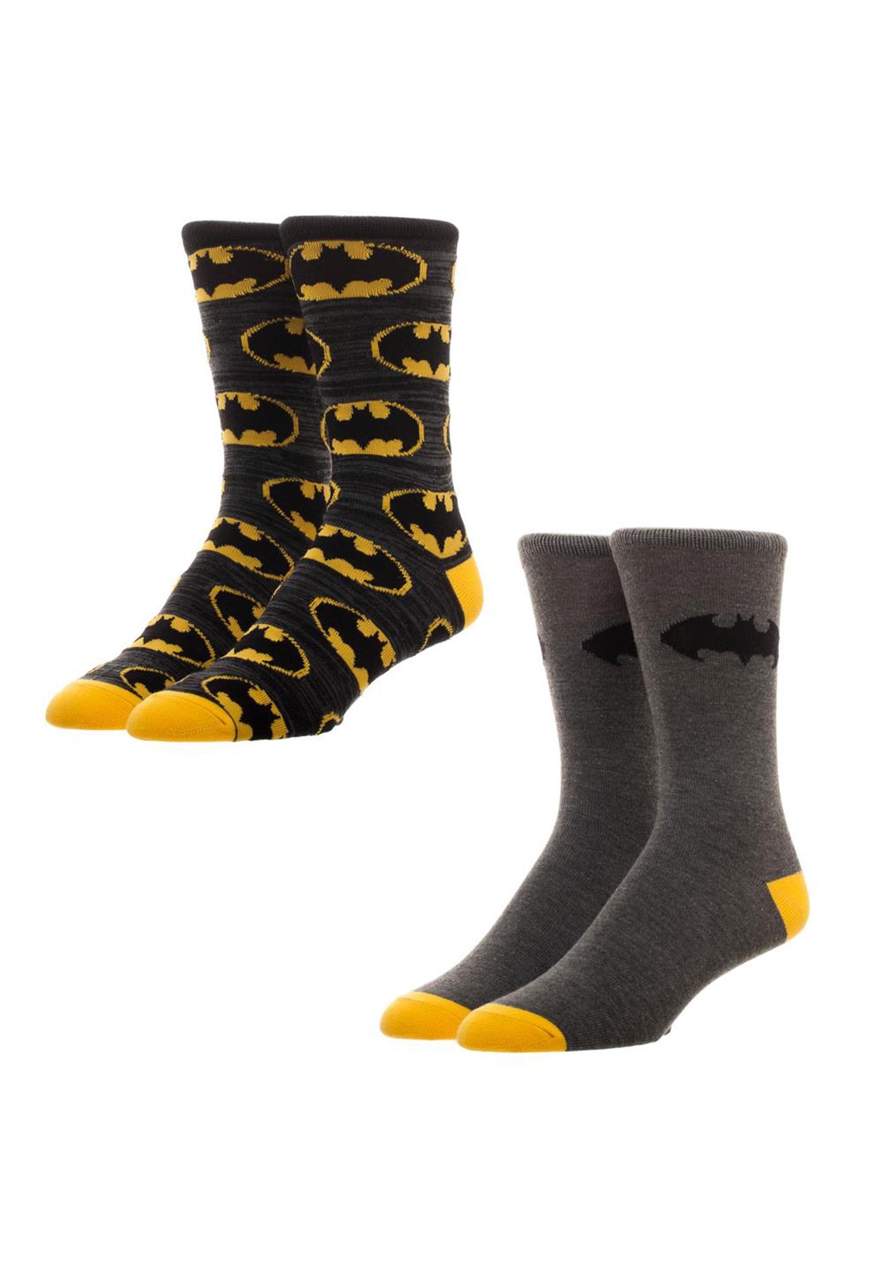 Batman 2 Pack Crew Socks BWXS5TOTBTM00PP00