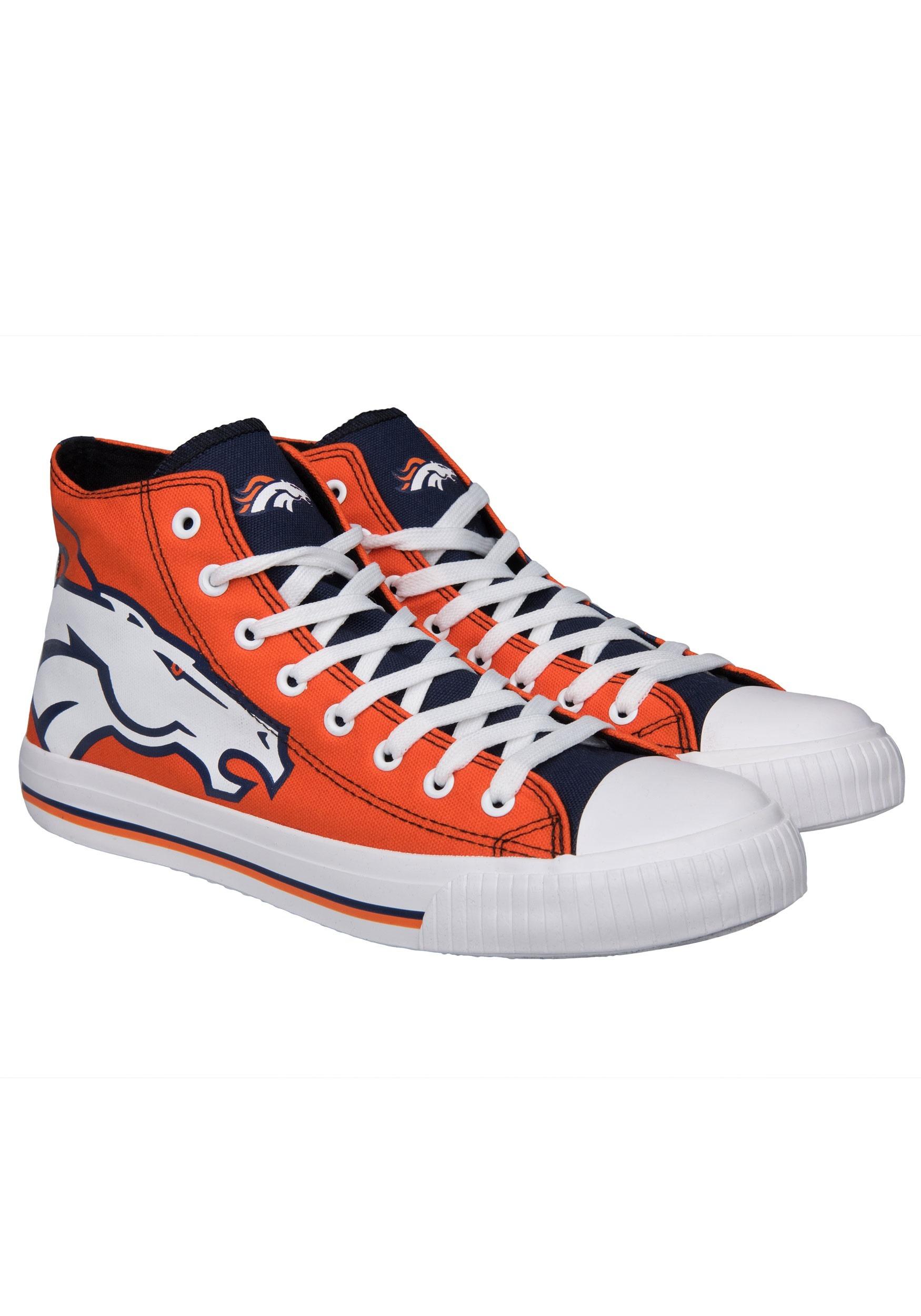 f8a44c6d Denver Broncos High Top Big Logo Canvas Shoes for Men