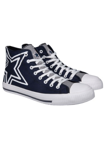 Dallas Cowboys High Top Big Logo Canvas Shoes