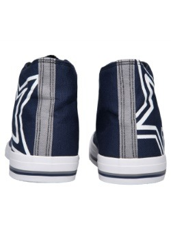 Dallas Cowboys High Top Big Logo Canvas Shoes Alt 3