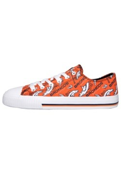 Denver Broncos Low Top Womens Canvas Shoe