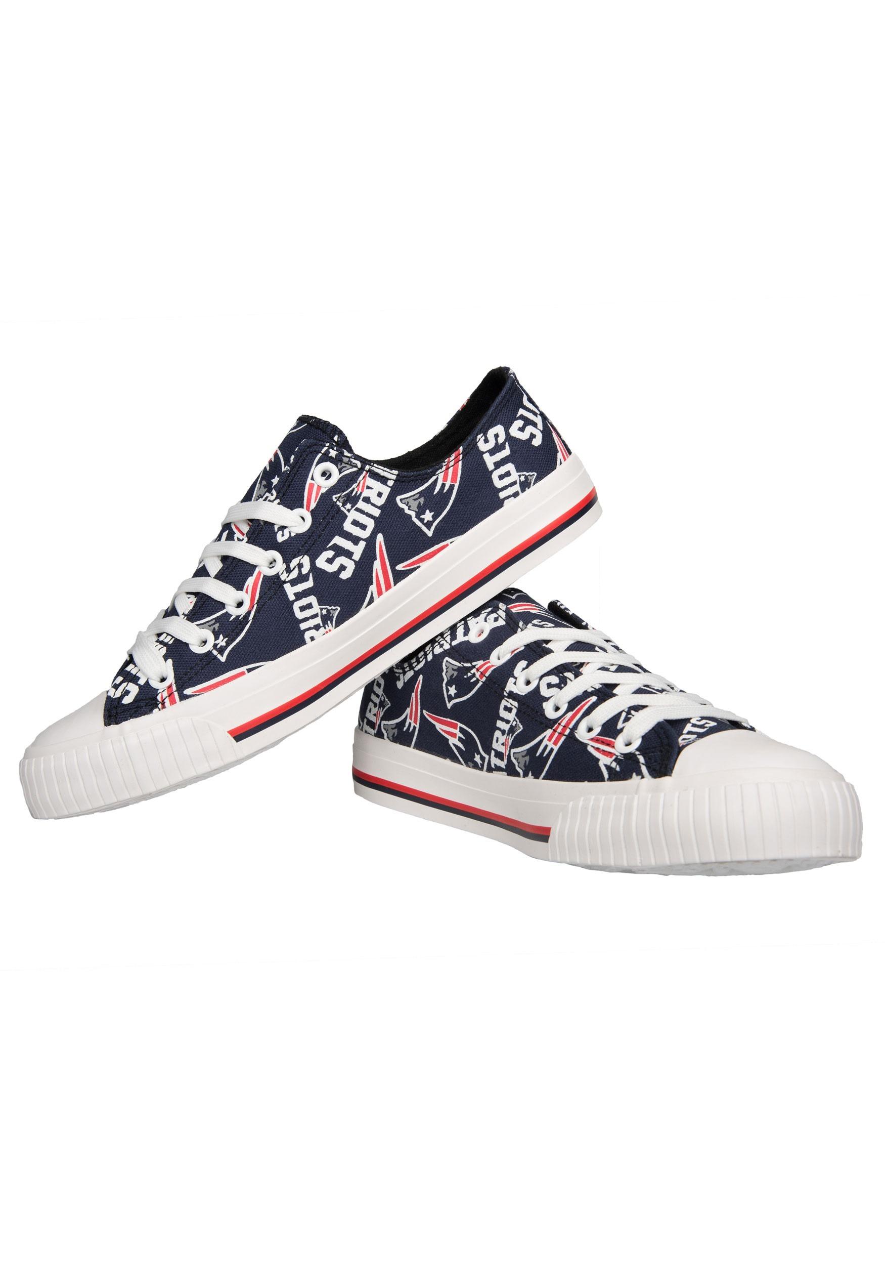 12d40a07d New England Patriots Low Top Canvas Shoes for Women
