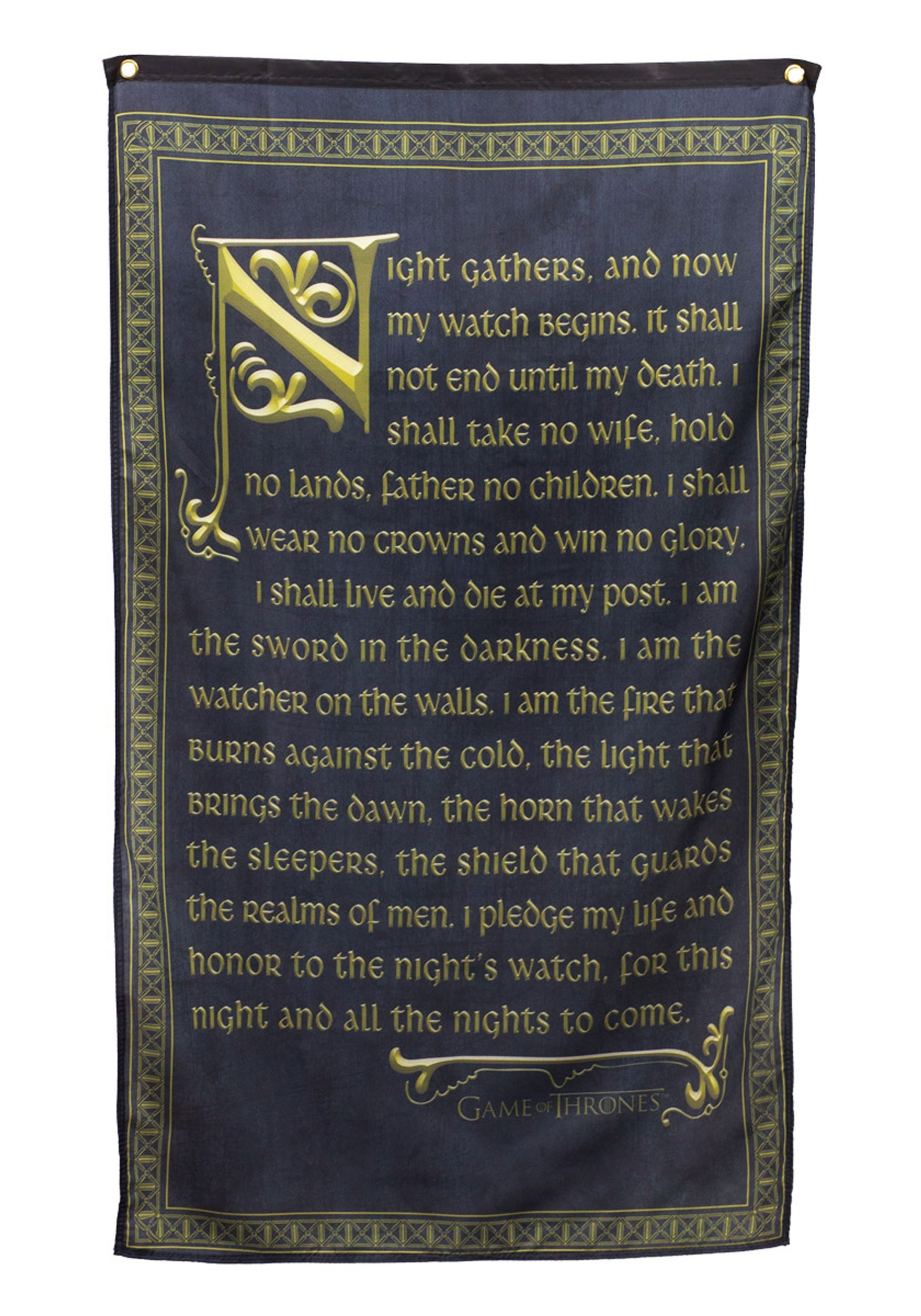 Game of Thrones Night s Watch Vow Banner