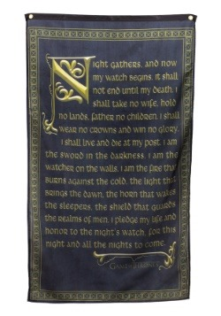 Game of Thrones Night's Watch Vow Banner