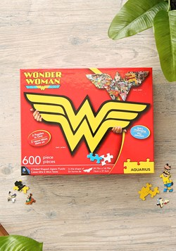 Wonder Woman Double Sided Logo Shaped 600 Pc Puzzle Update