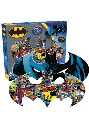 Batman Double Sided Logo Shaped 600 Pc Puzzle