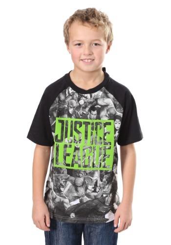 Boy's Justice League Raglan Shirt-Update