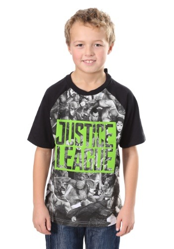 Boy's Justice League Raglan Shirt