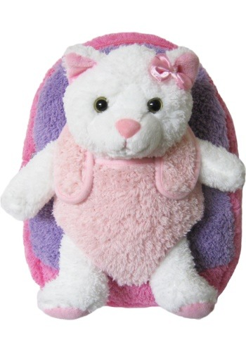 Kitty Hot Pink Plush Animal Backpack