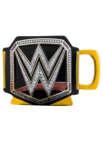 WWE Title Belt Sculpted Mug