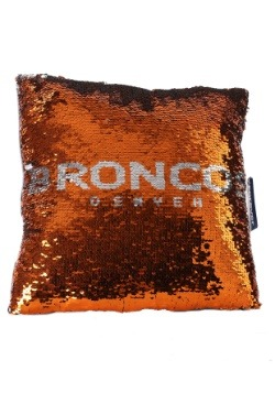 Denver Broncos Team Logo Sequin Pillow