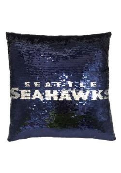 Seattle Seahawks Team Logo Sequin Pillow