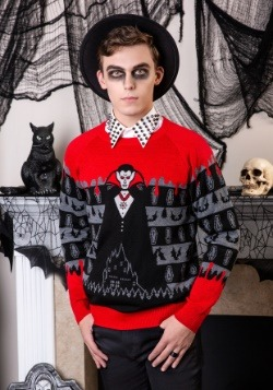 Adult Dracula Vampire Ugly Halloween Sweater Update1 Alt1