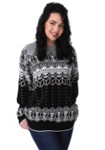 Adult Black and White Skeleton Ugly Halloween Sweater update