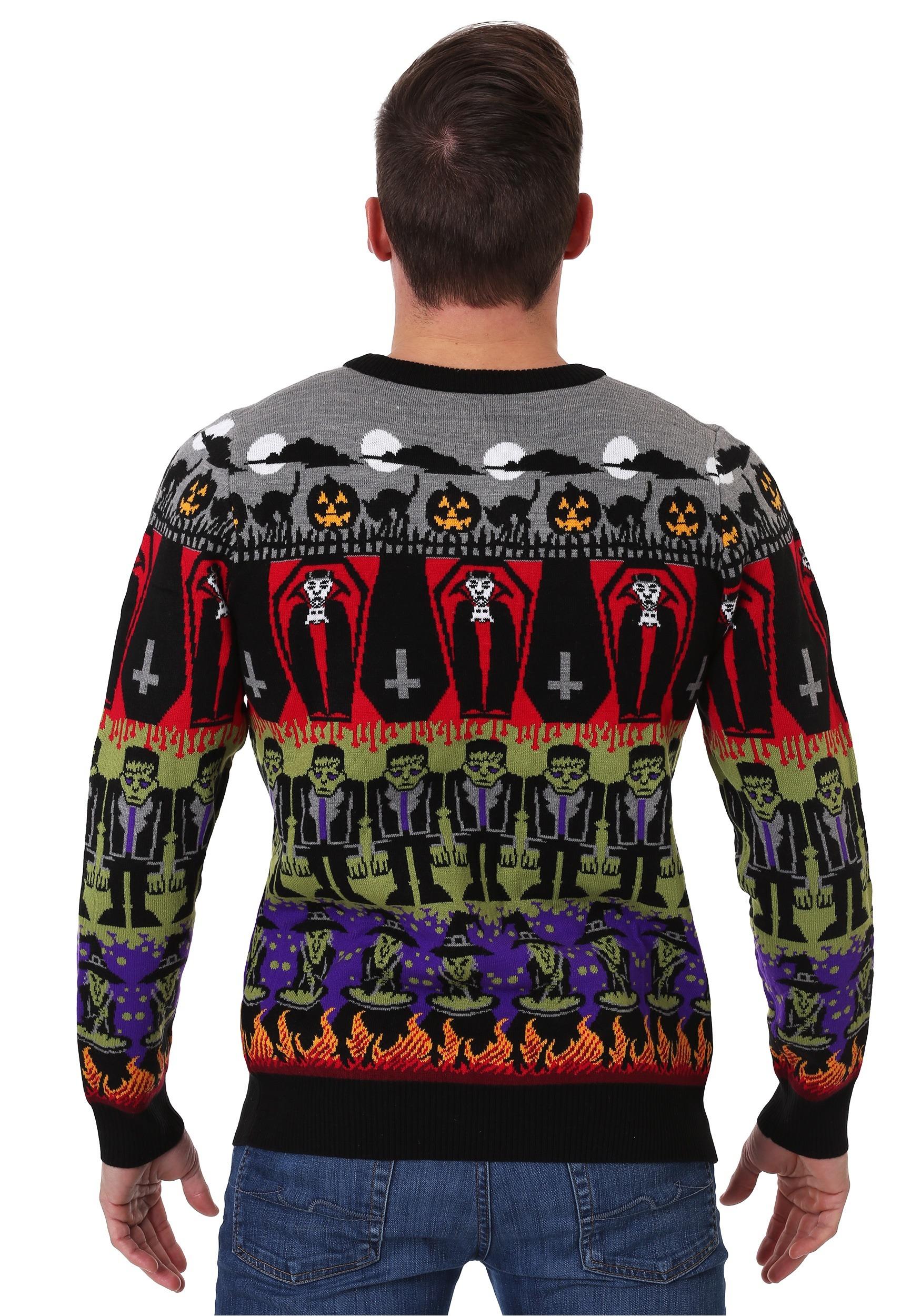 Marvel Boys Iron Man Fair Isle Christmas Sweatshirt