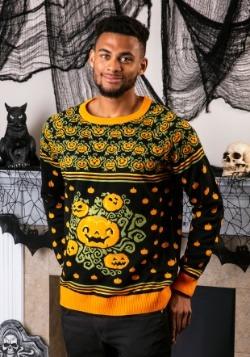 Adult Pumpkin Patch Ugly Halloween Sweater Update1 Alt1