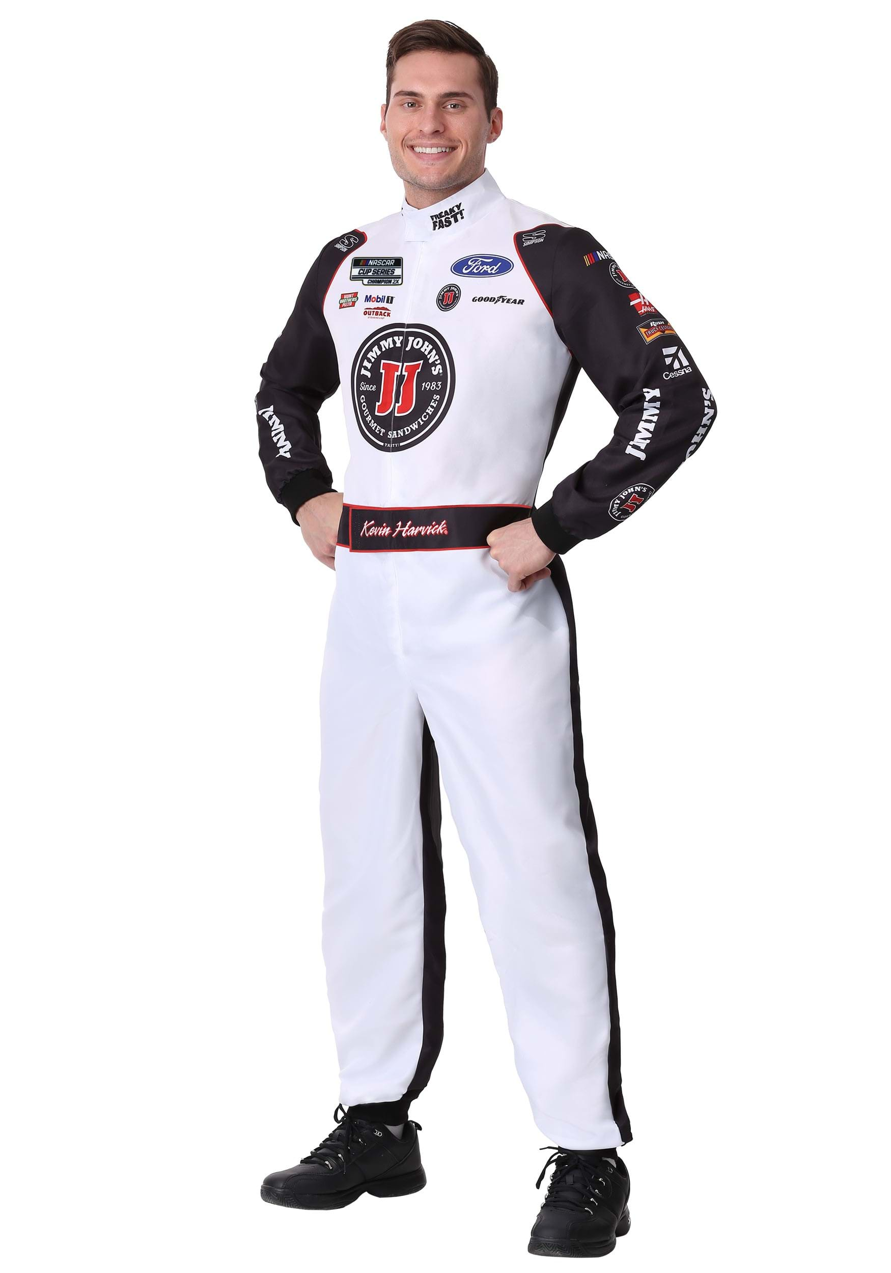 #4 Kevin Harvick(R) Jimmy John's Uniform Costume for Adults