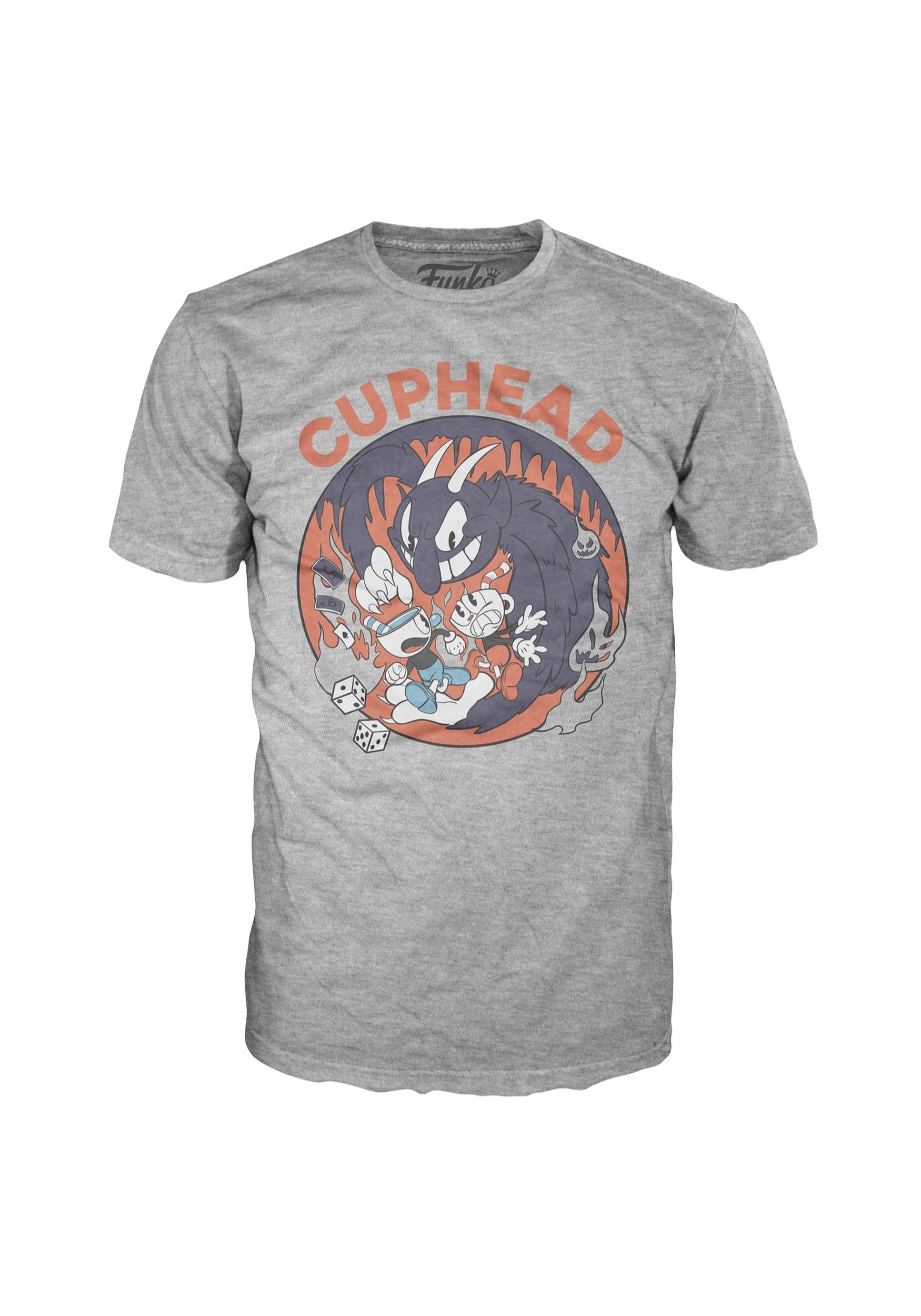 c9864b05 Pop! Tees: Cuphead Mugman Devil Adult Tee Shirt