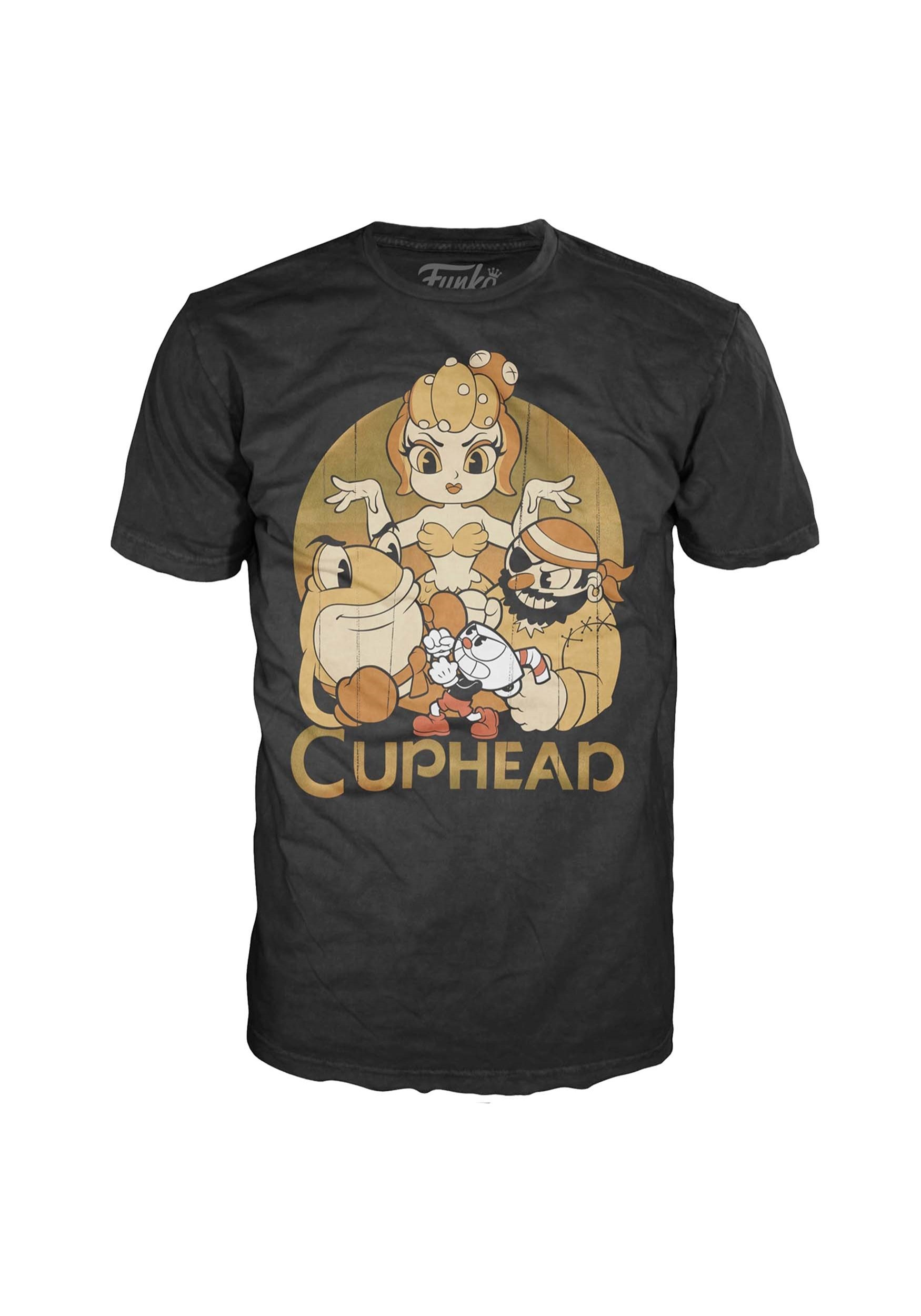 Pop Tees Cuphead And Bosses T Shirt For Adults Bott Funko The Devil Adult