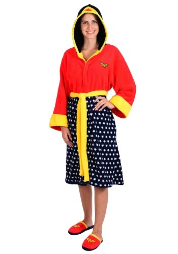 Hooded Fleece Robe And Slipper Set Wonder Woman