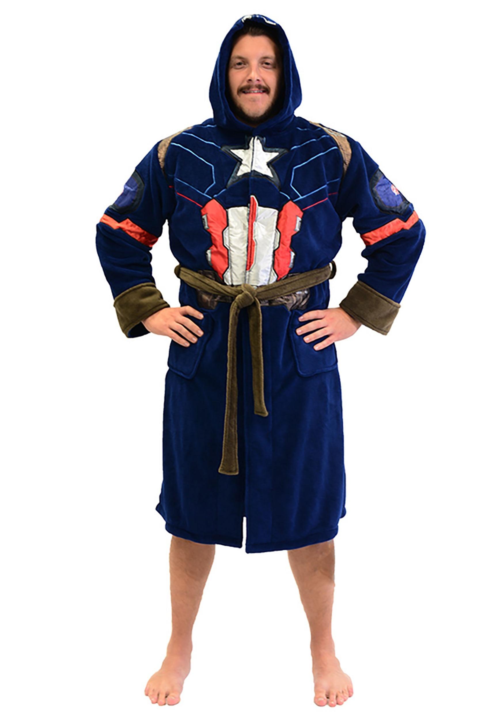 Captain America Adult Fleece Robe  sc 1 st  Fun.com & Captain America Fleece Robe for Adults