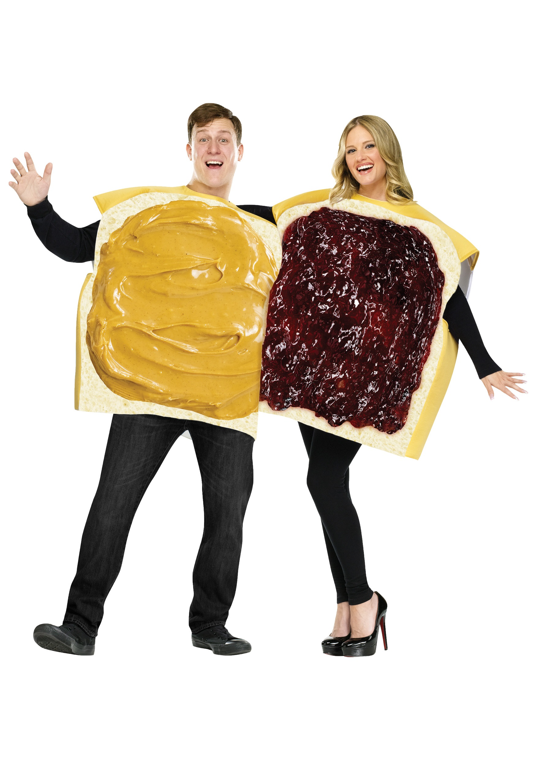 adult peanut butter and jelly costume for couples