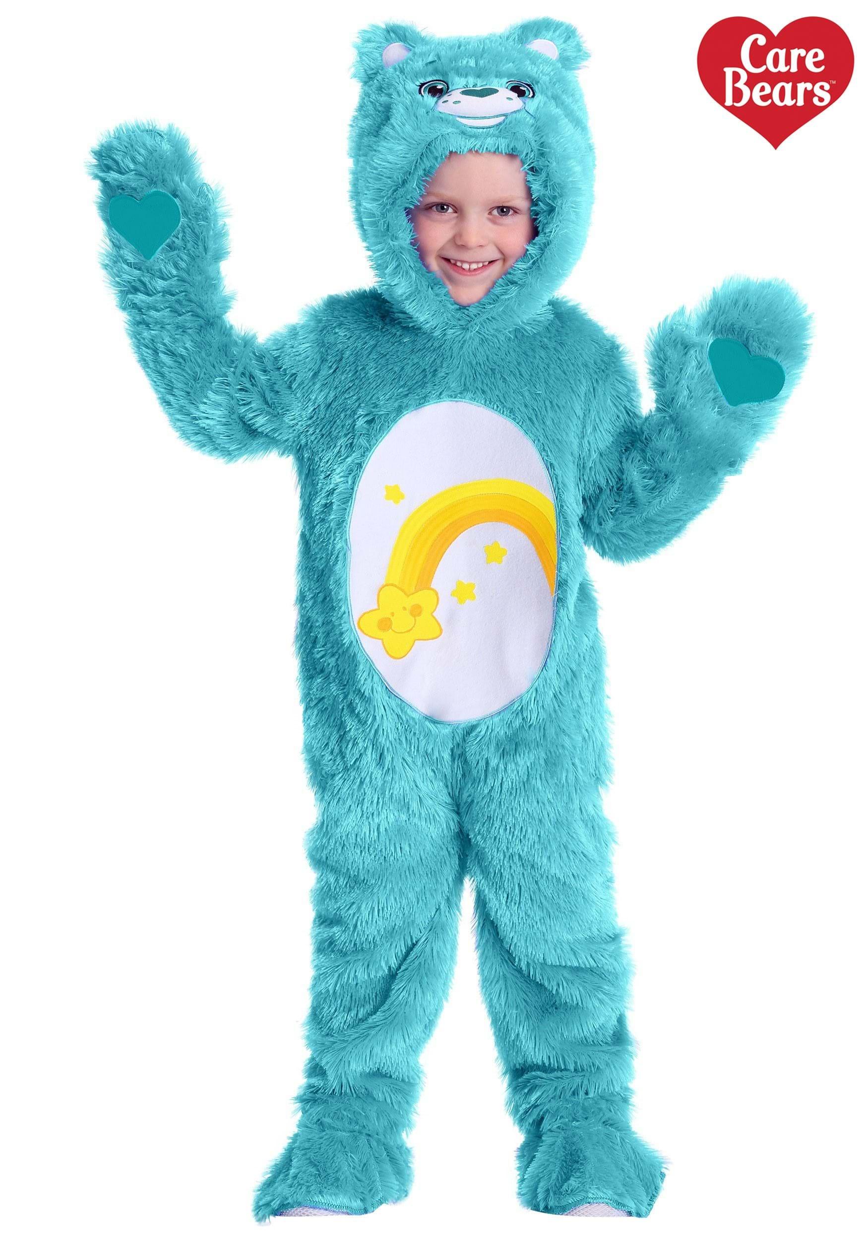 Deluxe Care Bears Grumpy Bear Blue Soft Plush Kids Toddler Costume 2T