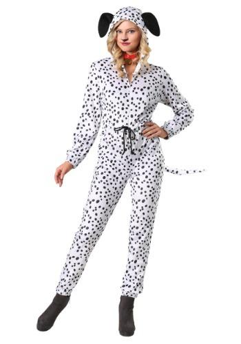 Women's Cozy Dalmatian Plus Size Jumpsuit Costume