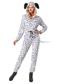 Women's Cozy Dalmatian Plus Size Jumpsuit Costume