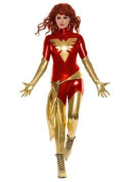 Red Phoenix Women's Jumpsuit Costume1