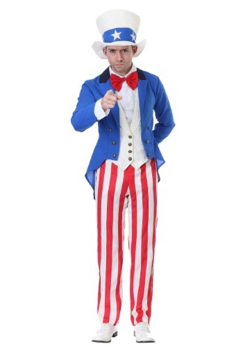 Men's Plus Size Classic Uncle Sam Costume