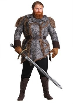 Mens Plus Size Wild Warrior Costume