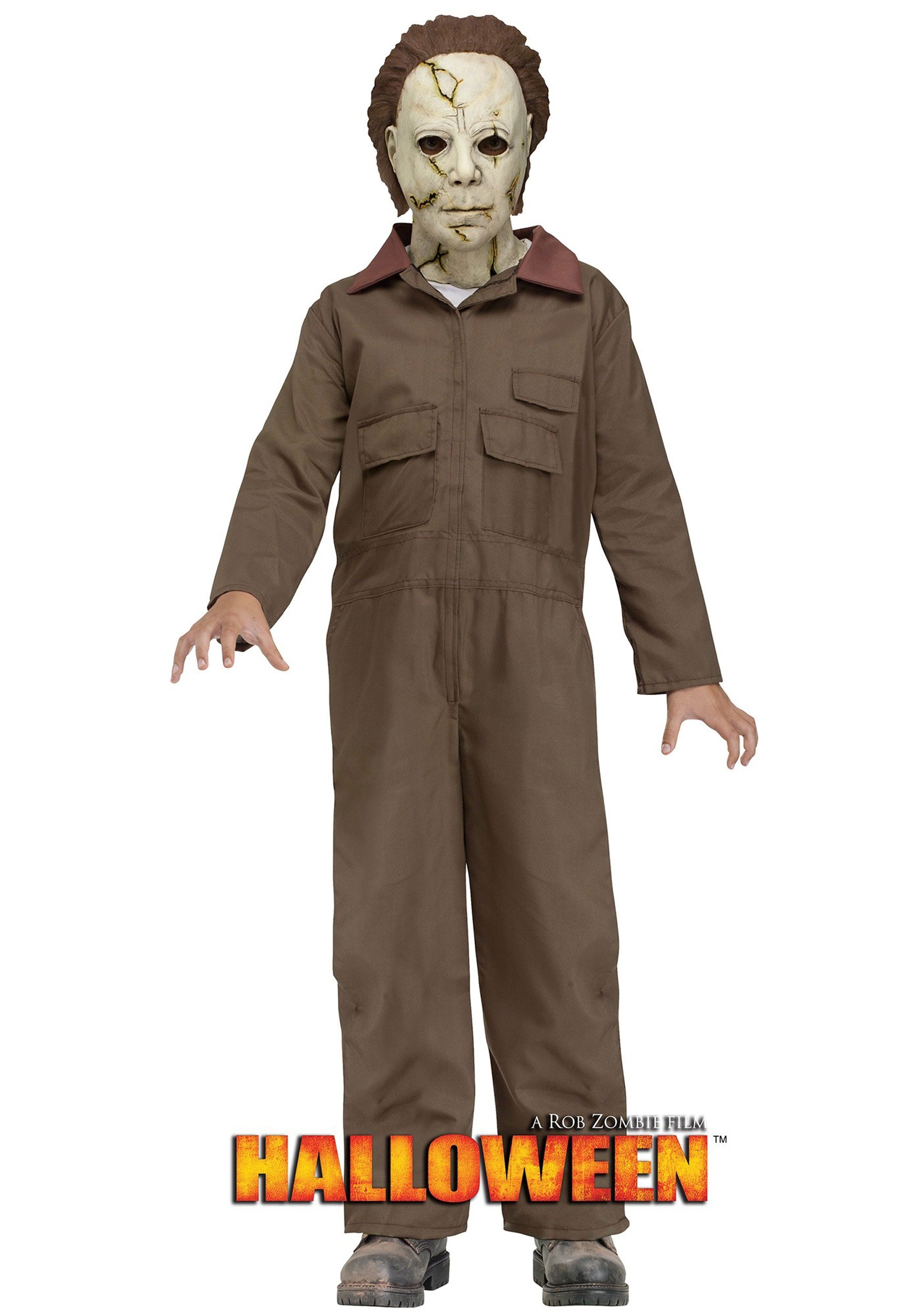 rob zombie halloween michael myers costume for children