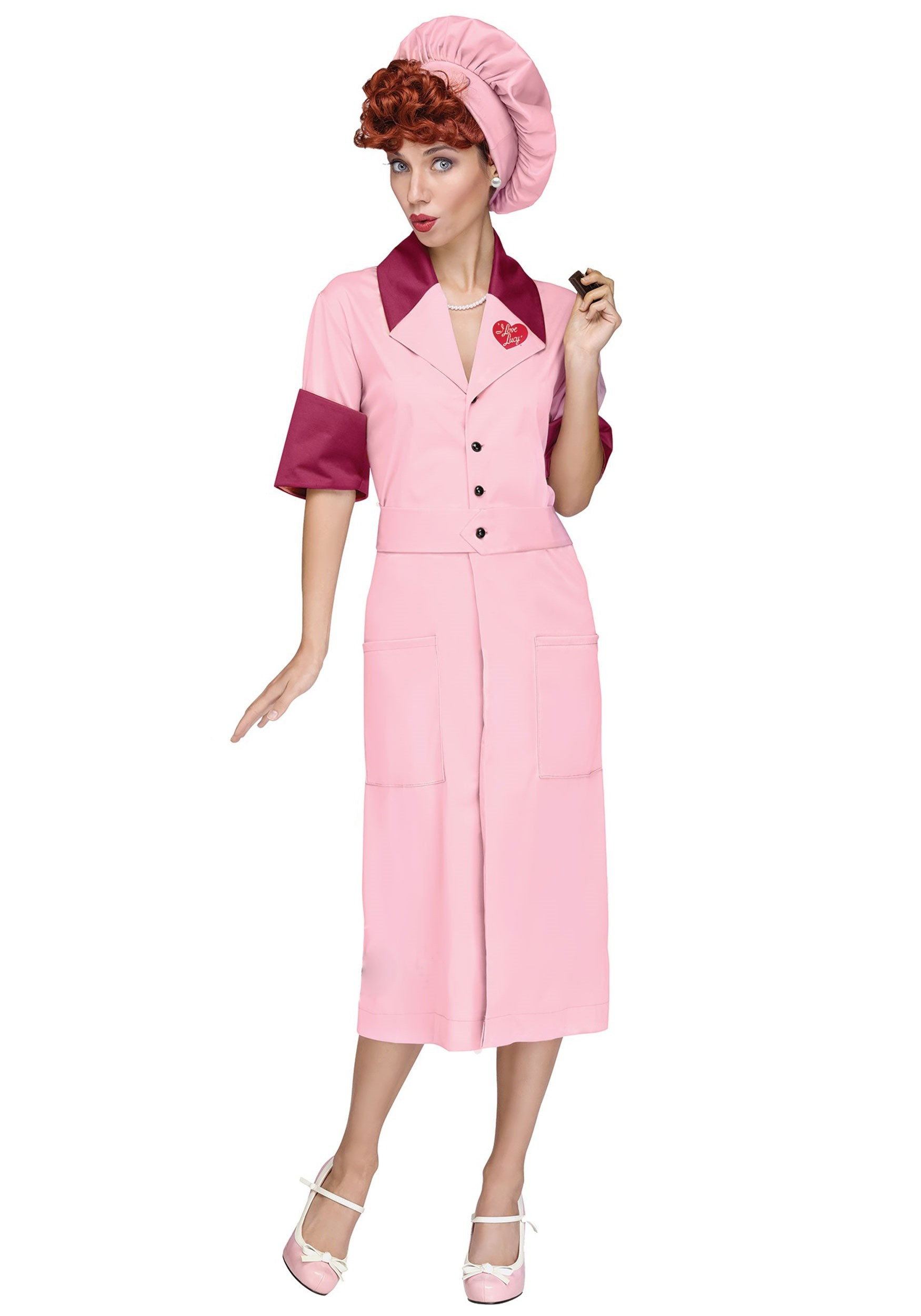 I Love Lucy Women's Candy Factory Costume FU101184