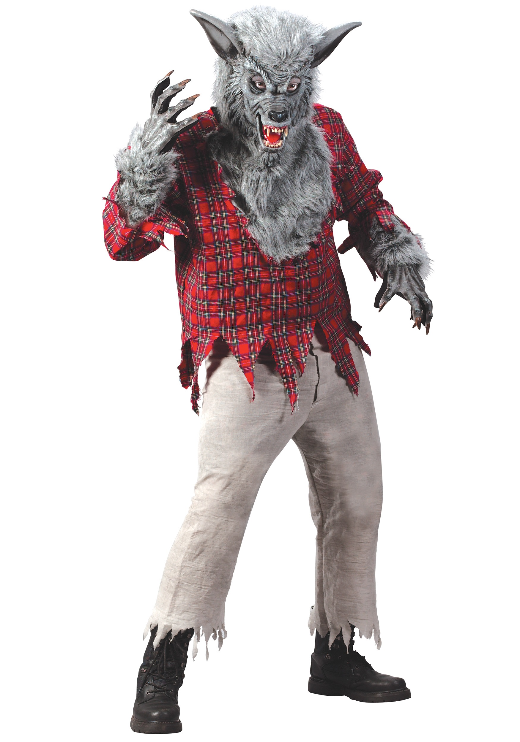 Grey Werewolf Costume for Adults