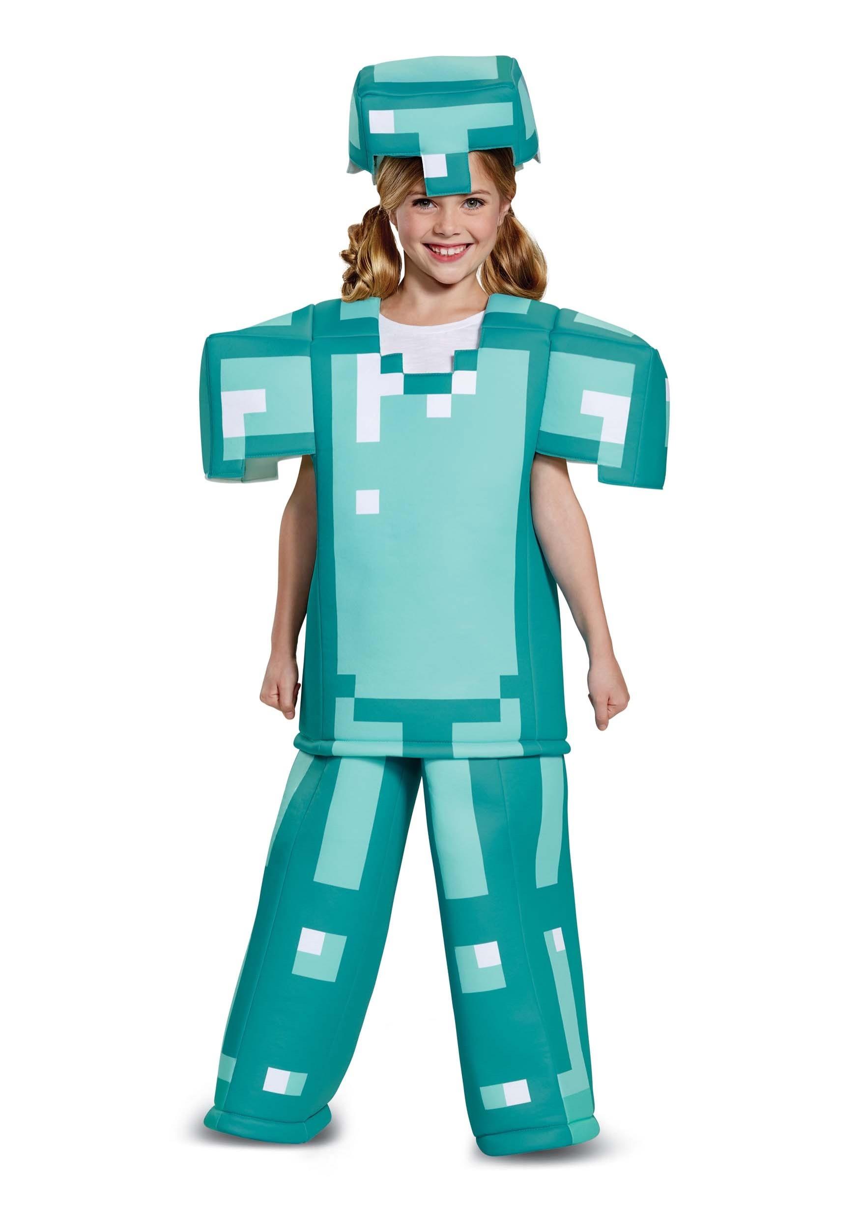 Prestige Minecraft Child Armor Costume Prestige Minecraft Child Armor Costume ...  sc 1 st  Fun.com & Prestige Minecraft Armor Costume for Children