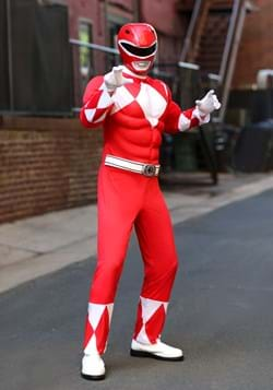 Power Rangers Adult Red Ranger Muscle Costume Update