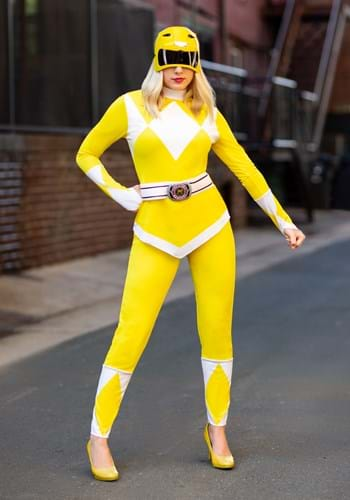Adult Power Rangers Yellow Ranger Costume