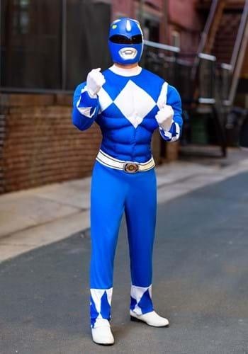 Power Rangers Adult Blue Ranger Muscle Costume