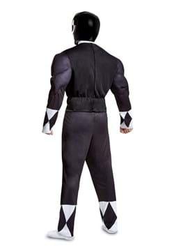 Adult Power Rangers Black Ranger Muscle Costume 2