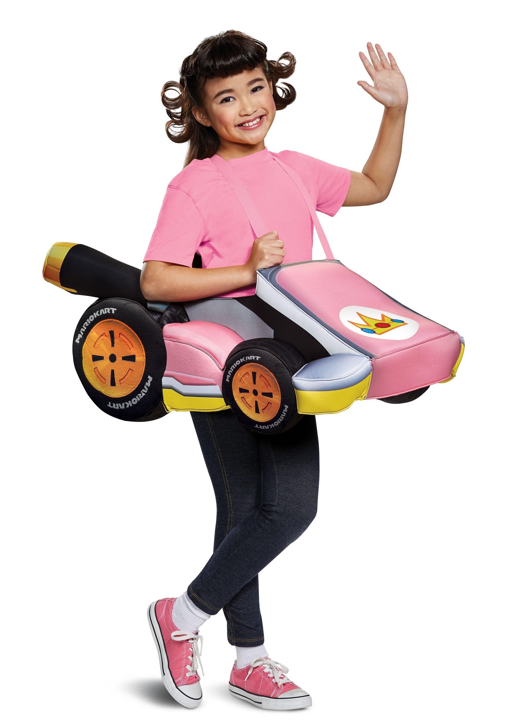 Child Super Mario Kart Princess Peach Ride In Costume