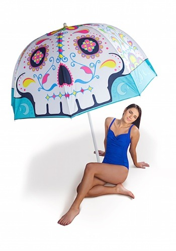Sugar Skull Beach Umbrella