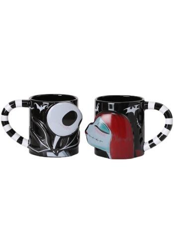 Nightmare Before Christmas Jack and Sally 2 piece Mug Set